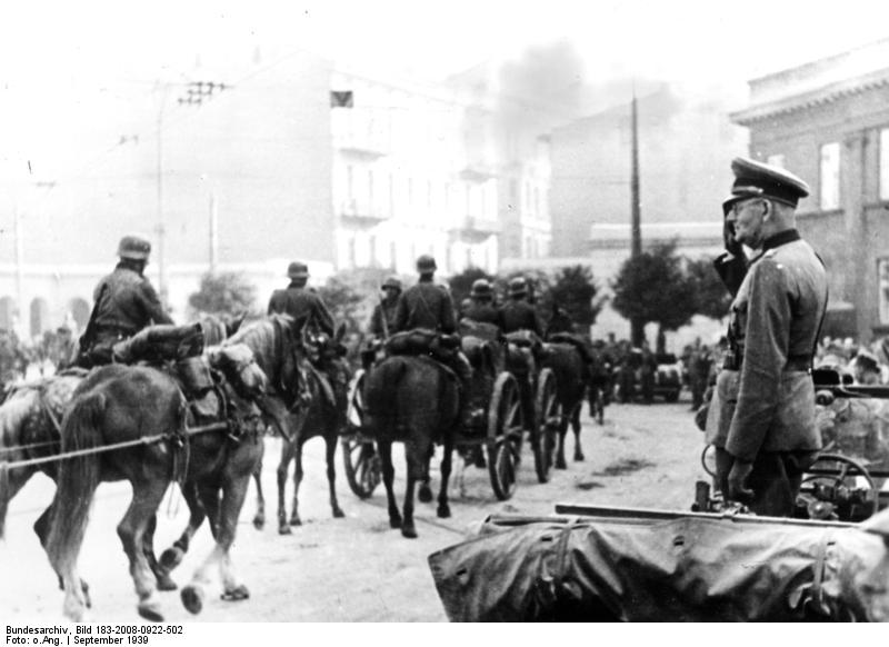 Lodz, Einzug deutscher Truppen