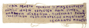 Text for a telegram to be sent to relatives of the Family Schein