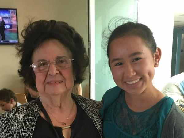 Stella, survivor of the Holocaust, and Dominique