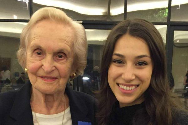 Livia, survivor of the Holocaust, and Bethie