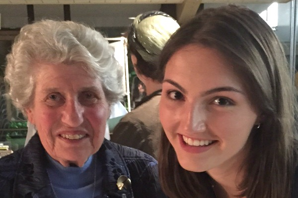 Ellen, survivor of the Holocaust, and Chace