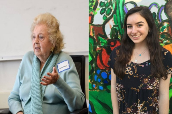 Helen, survivor of the Holocaust, and Leah