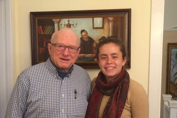 Leon, survivor of the Holocaust, and Talia