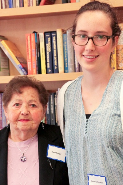 Rivka, survivor of the Holocaust, and Rebecca