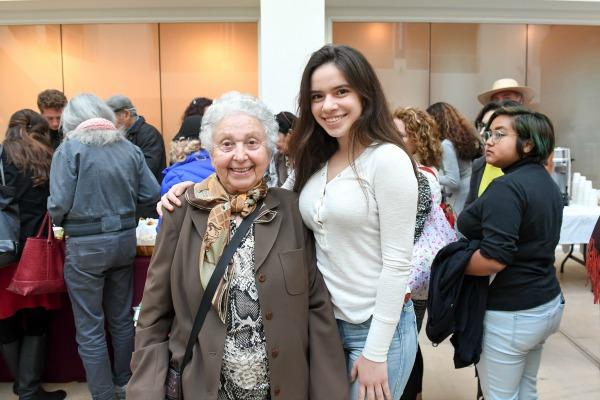 Holocaust survivor AnneMarie with student Nicolette