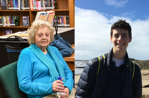 Holocaust survivor Helen and student Ben