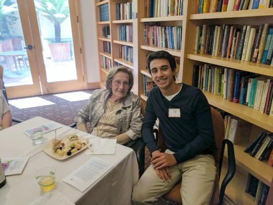 Holocaust survivor Lenci with student Nick