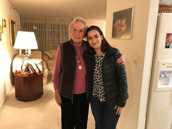 Holocaust survivor Livia and student Emma