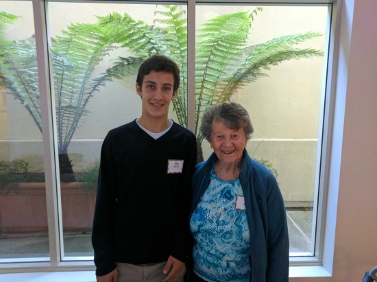 Holocaust survivor Lori and student Idan