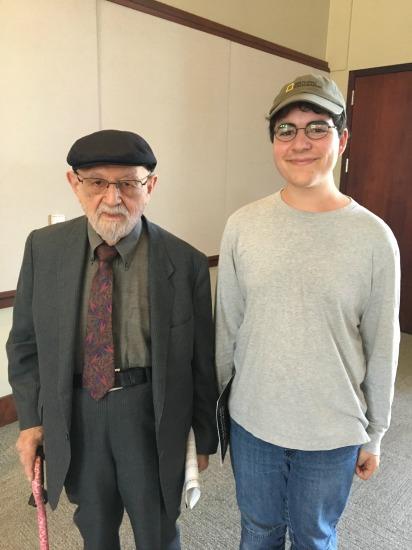 Holocaust survivor Louis and student Jonah