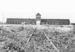 Main entrance to Auschwitz-Birkenau.