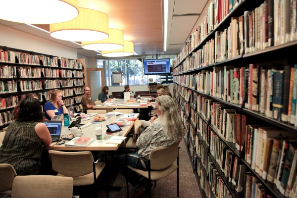 Teachers Explore USC Shoah Foundation's Visual History Archive in the Tauber Holocaust Library
