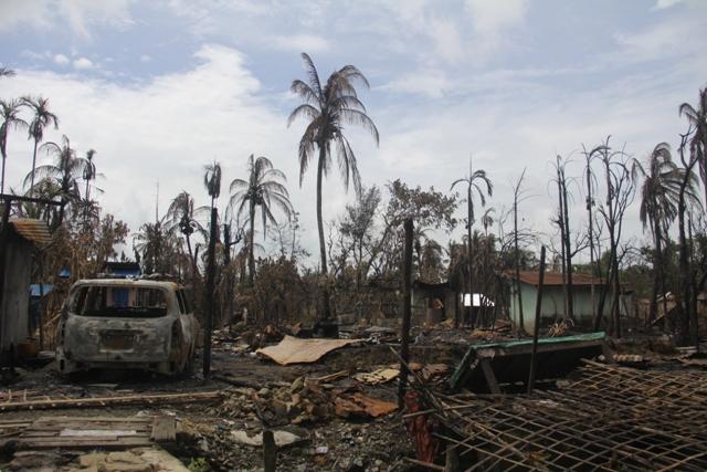 Village in northern Rakhine