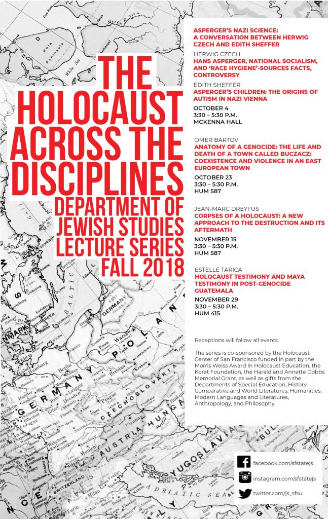 The Holocaust Across the Disciplines Program Flyer